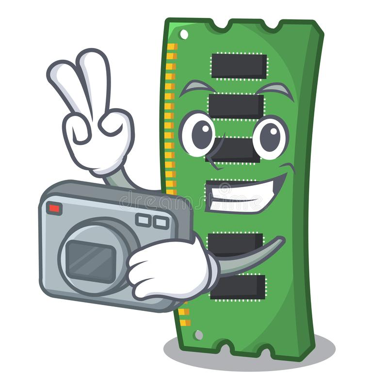 Fotografa RAM karta pamięci w peceta charakterze royalty ilustracja