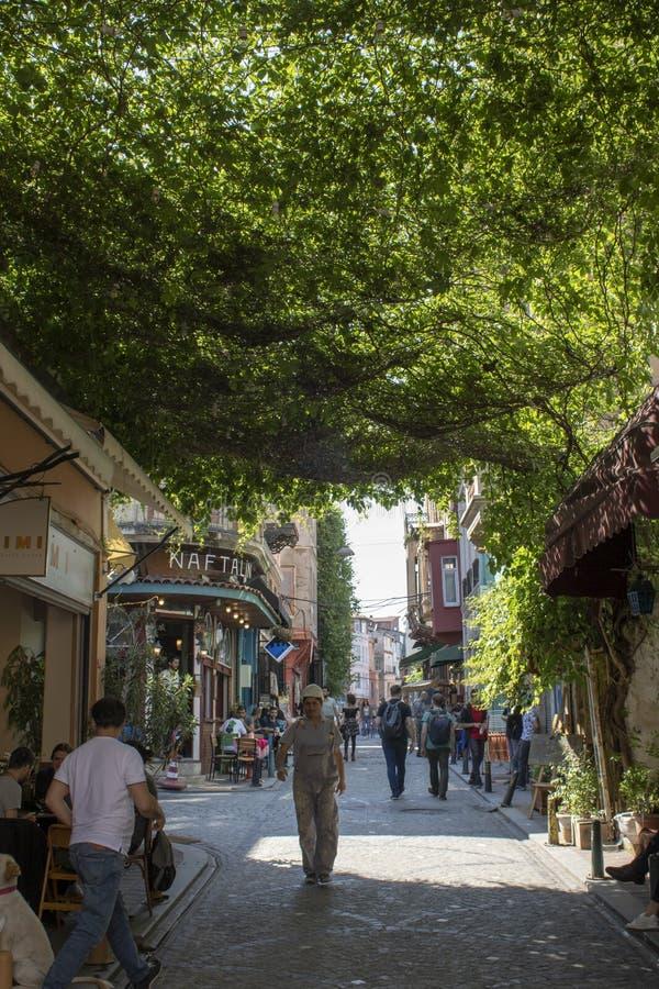 Fotografado nas ruas de Balat imagens de stock royalty free