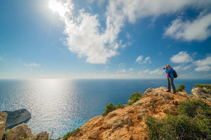 Fotografando a angra impressionante do naufrágio fotografia de stock royalty free