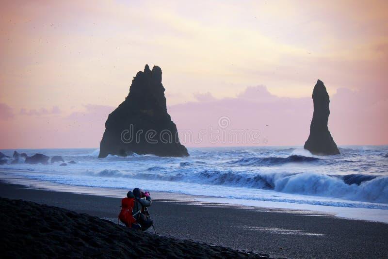 Fotografando Islândia fotos de stock