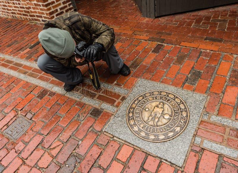 Fotografando la traccia di libertà - Boston, mA fotografia stock