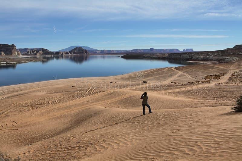 Fotografando o lago Powell fotos de stock royalty free