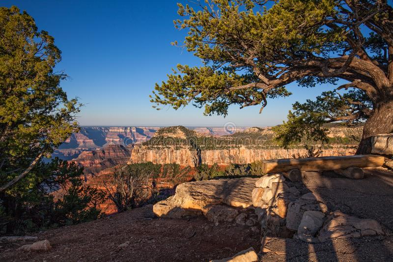 Fotografare l'orlo del nord scenico di Grand Canyon immagine stock