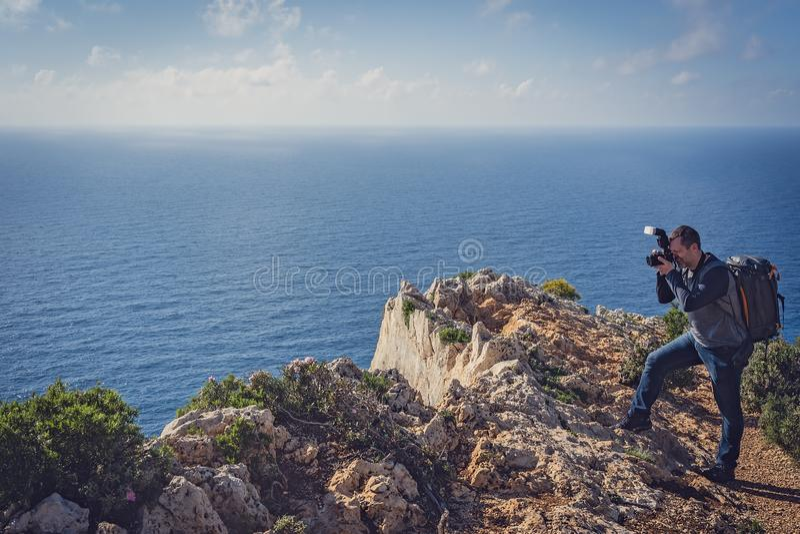 Fotografare la baia sbalorditiva del naufragio fotografia stock libera da diritti