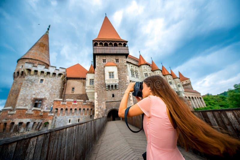 Fotografera den Corvin slotten arkivbild