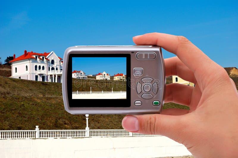 Fotografera huset arkivbilder