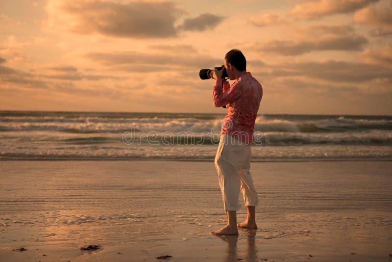 fotografera solnedgång arkivfoton