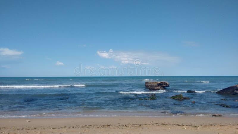 Fotografi av stranden av Miramar arenaceous royaltyfri fotografi