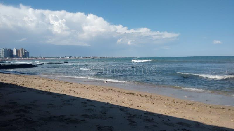Fotografi av stranden av Miramar arenaceous royaltyfria bilder