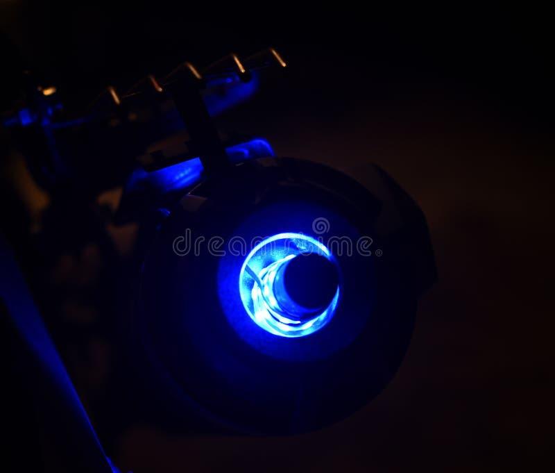 Fotografi för materiel för ljus för cykelljuddämparegarnering royaltyfria bilder