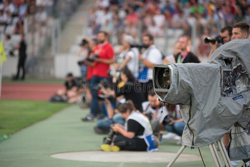 Fotografi vicino al passo di calcio fotografie stock