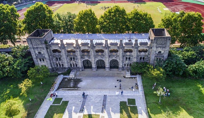 Fotografia aérea - área cênico do parque dos esportes foto de stock royalty free