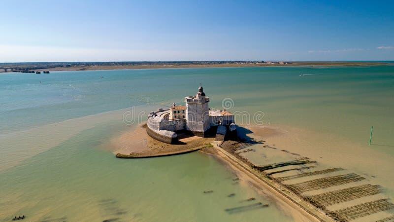 Fotografia aérea do forte Louvois em Charente marítimo imagens de stock royalty free