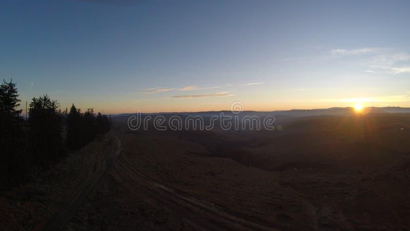 Fotografia aerea del tramonto fotografia stock libera da diritti