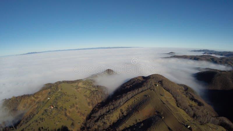 Fotografia aerea di rumeno Montains immagini stock