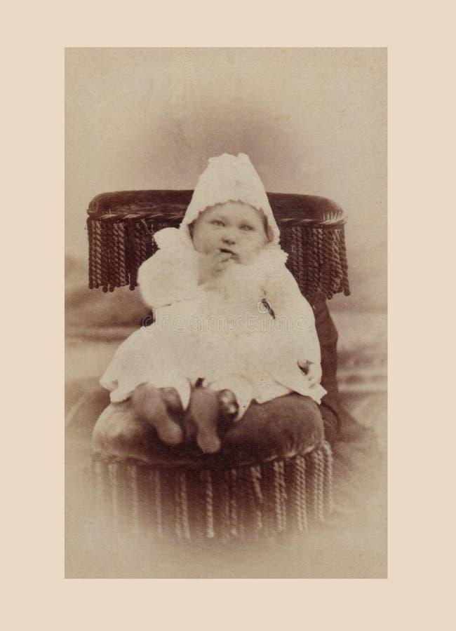 Fotografia antica del neonato fotografia stock