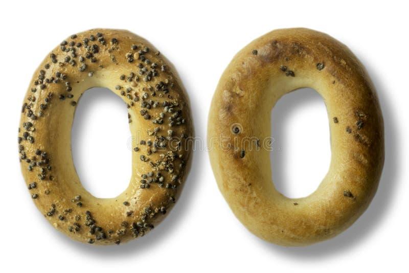 Fotografia bagels z makowymi ziarnami obrazy royalty free