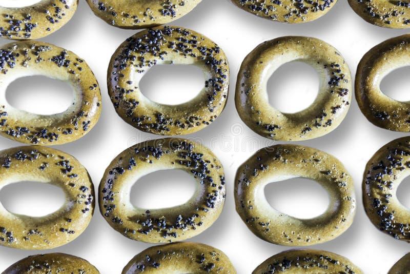 Fotografia bagels z makowymi ziarnami obraz stock