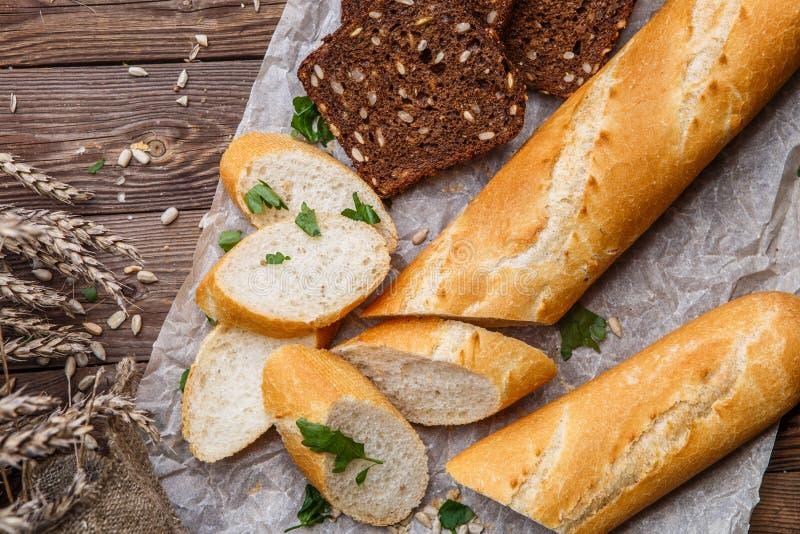 Fotografia baguette i chleb zdjęcie royalty free