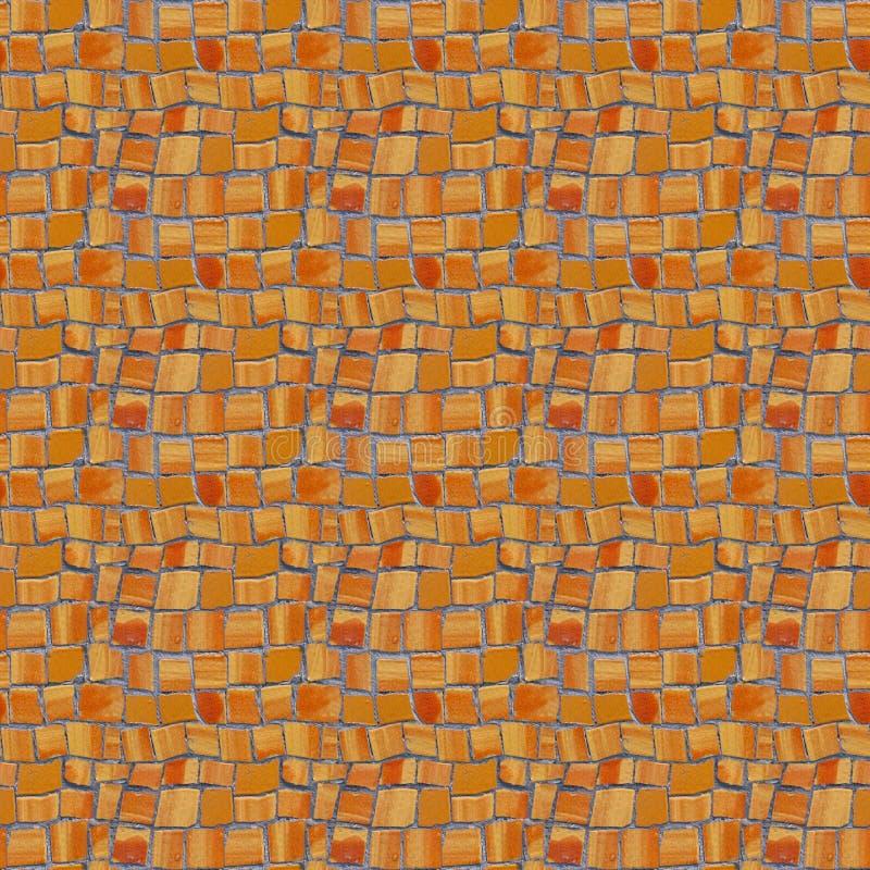 Fotografia bezszwowy wzór z czerepem ściana z łamany ceramicznym obrazy royalty free