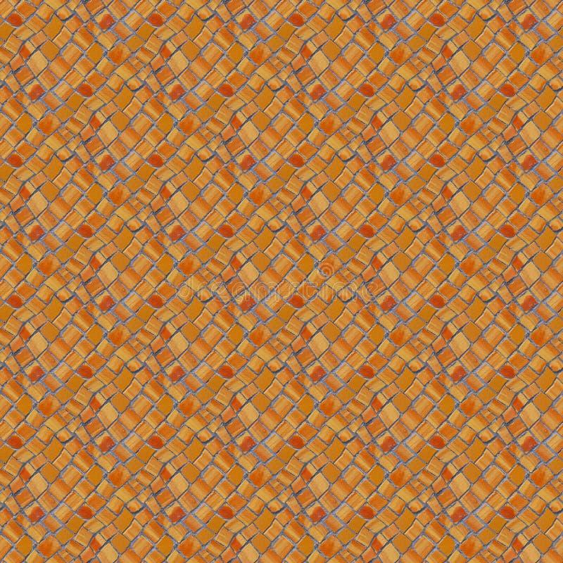 Fotografia bezszwowy wzór z czerepem ściana z łamany ceramicznym zdjęcia stock