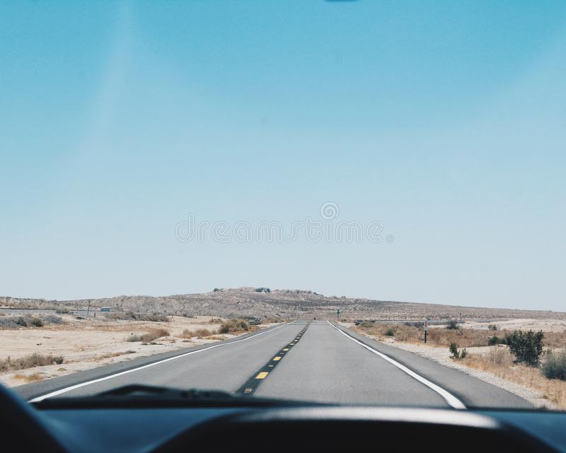 Fotografia brać droga w samochodzie zdjęcie stock