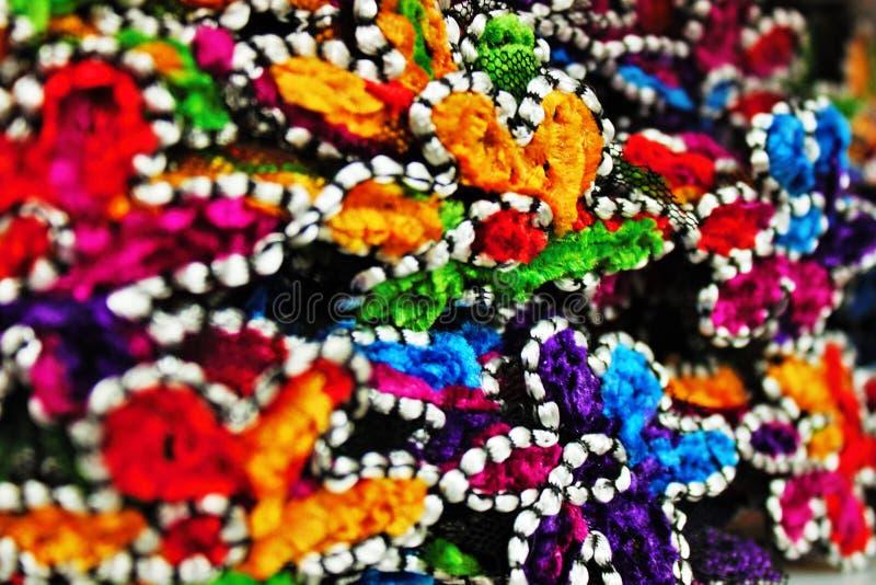 fotografia colorida que descreve um grupo de flores coloridas da tela imagem de stock