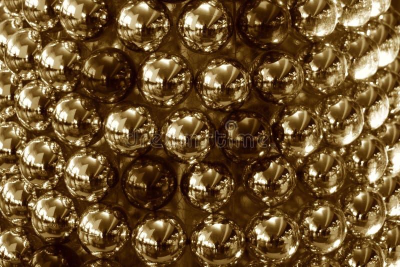 Fotografia conservada em estoque colorida sepia das bolas da decoração do Natal imagens de stock royalty free