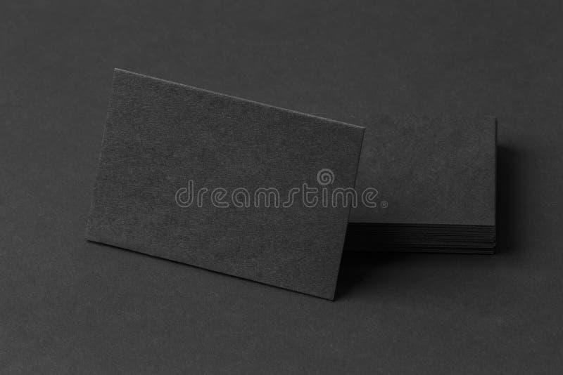 Fotografia czarne wizytówki Szablon dla oznakować tożsamość fotografia stock