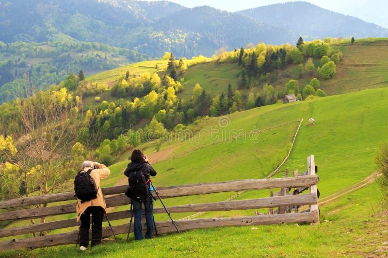Fotografia da paisagem em Carpathians imagem de stock