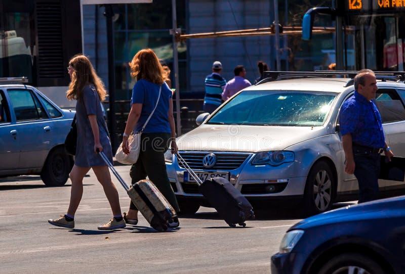 Fotografia da rua de Bucareste - do centro fotos de stock royalty free