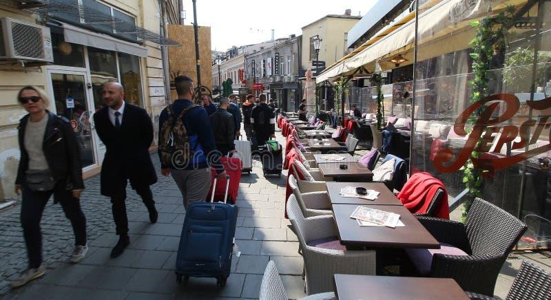 Fotografia da rua de Bucareste - do centro imagens de stock royalty free