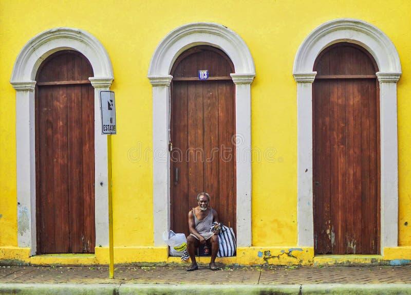 Fotografia da rua em Santiago de los Caballeros imagem de stock royalty free