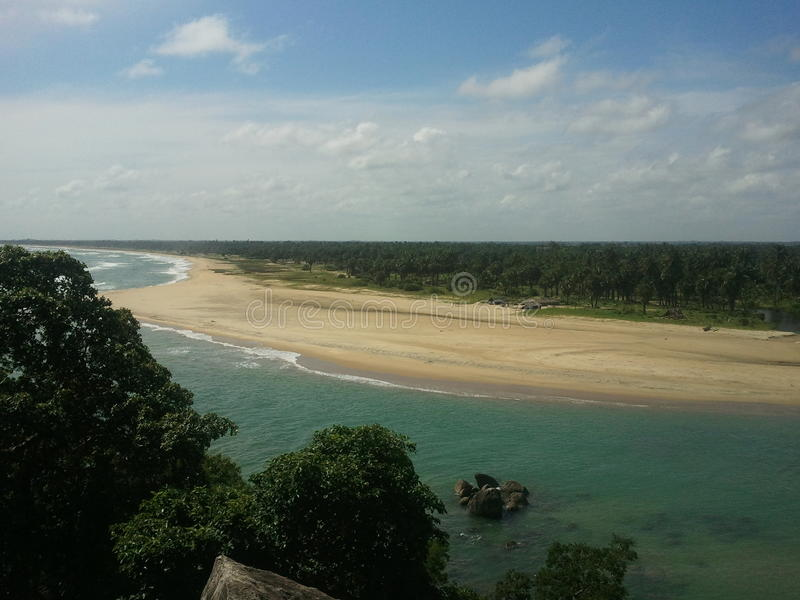 Fotografia de ar bonita do mar imagens de stock royalty free