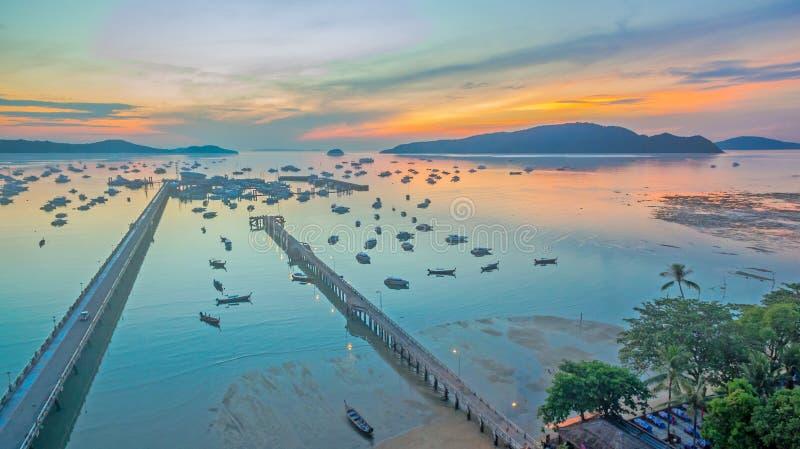 Fotografia de Arerial no cais de Chalong imagem de stock royalty free