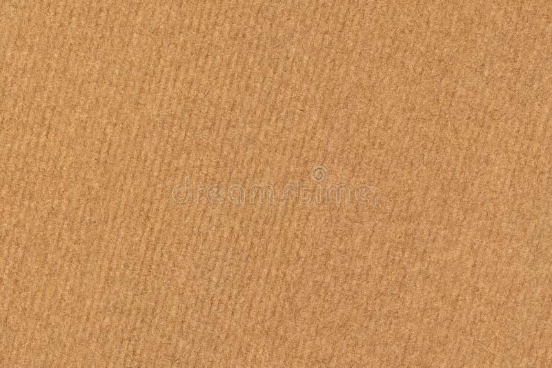A fotografia de recicla a textura listrada do Grunge do papel de embalagem de Brown da grão grosseira fotografia de stock royalty free