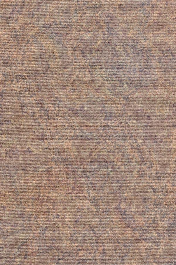 A fotografia de recicla a textura sarapintado listrada do Grunge do papel de embalagem de Brown da grão grosseira imagens de stock