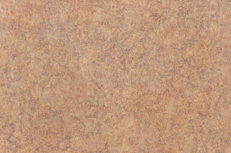A fotografia de recicla a textura sarapintado listrada do Grunge do papel de embalagem de Brown da grão grosseira fotos de stock