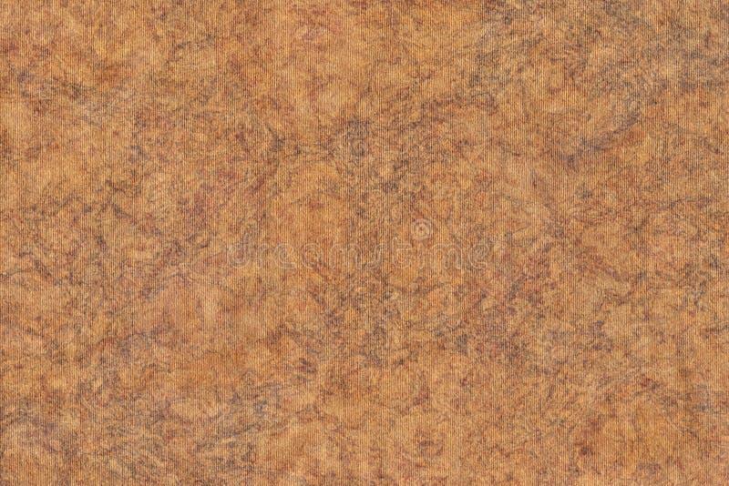 A fotografia de recicla a textura sarapintado listrada do Grunge do papel de embalagem de Brown da grão grosseira foto de stock royalty free