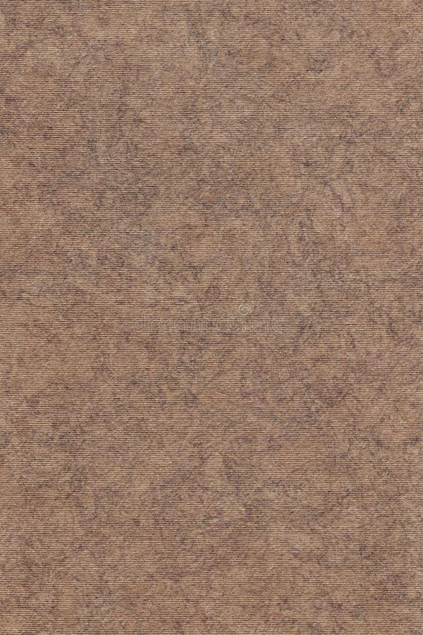 A fotografia de recicla a textura sarapintado listrada do Grunge do papel de embalagem de Brown da grão grosseira imagem de stock