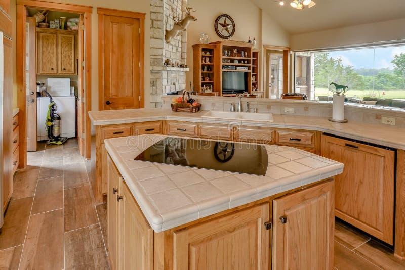 Fotografia de Texas Mini Farm /Ranch Real Estate imagens de stock