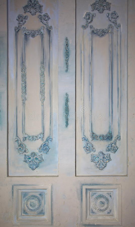 Fotografia dekoracyjni ścienni panel z różnorodnymi typ ornamenty w postaci dekoracyjnego ram i nasadek imitaci rocznika obraz royalty free