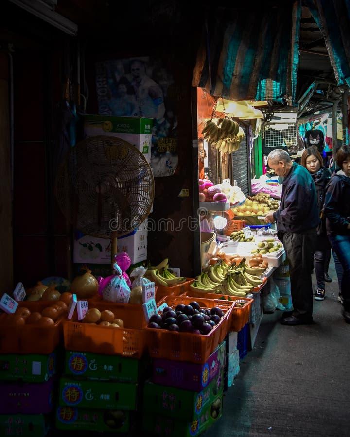 Fotografia della via di Hong Kong fotografie stock