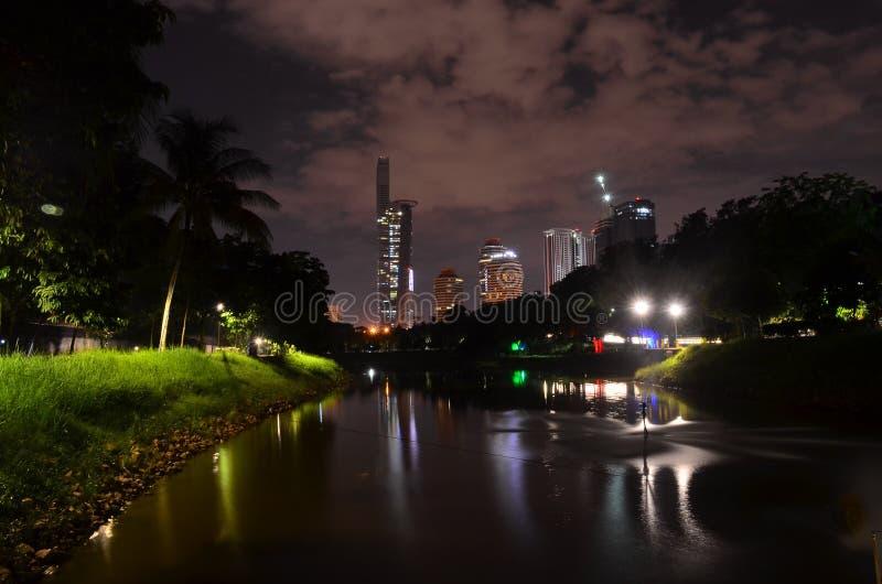 Fotografia di notte del lago fotografia stock