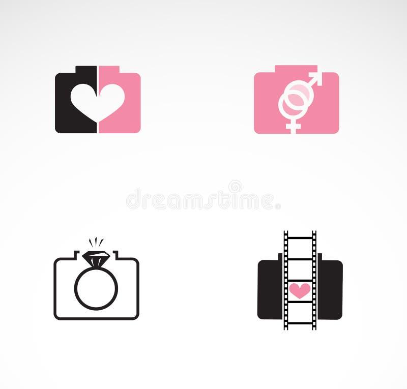 Fotografia di nozze - insieme delle icone creative royalty illustrazione gratis