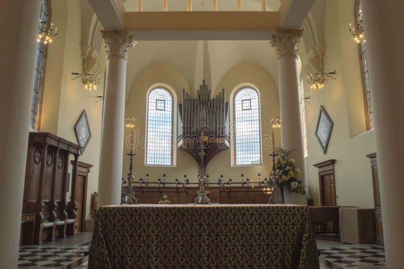 Fotografia di orizzontale di Derby Cathedral High Altar fotografia stock