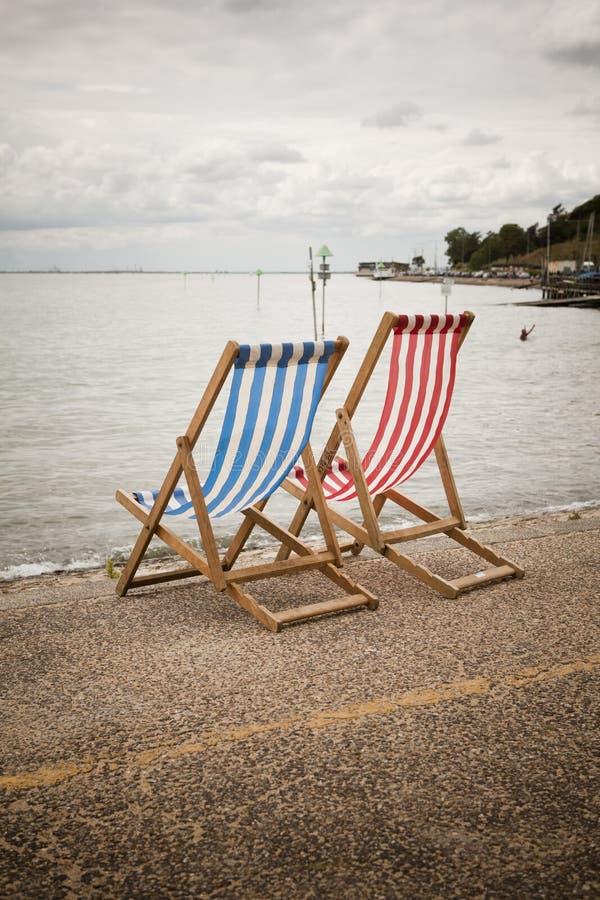 Fotografia di sedie a sdraio fotografia stock