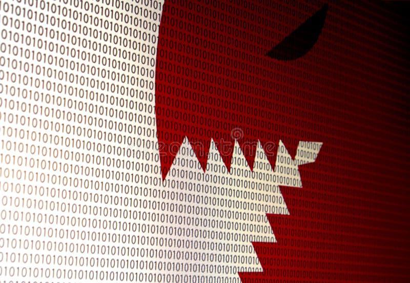 Fotografia do computador do ataque do vírus da tela conduzida fotografia de stock royalty free