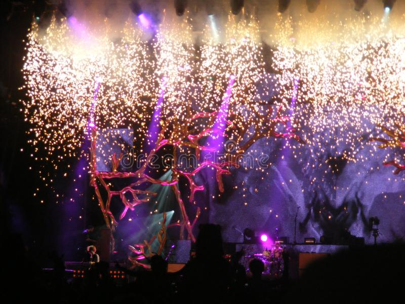 Fotografia do concerto fotografia de stock