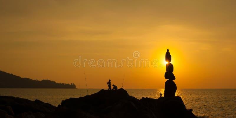 Fotografia do mar do por do sol fotografia de stock